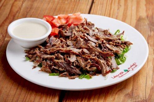 طبق شاورما لحم