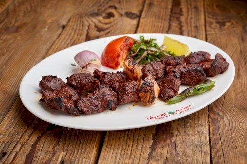 Tikka lebnani meat Plate
