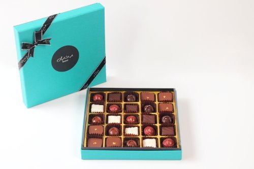 Spring Box Turquoise Large with Assorted Origin Chocolates