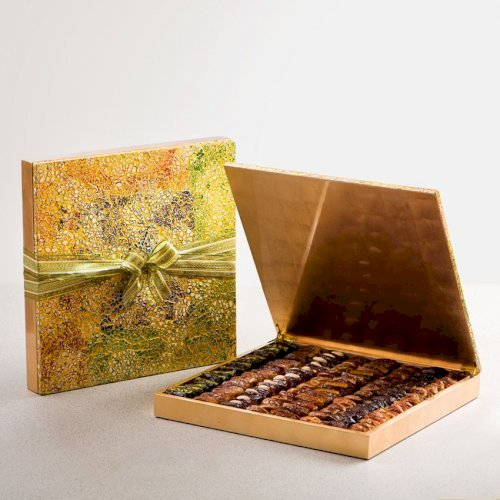 Abstract Wooden Box Large