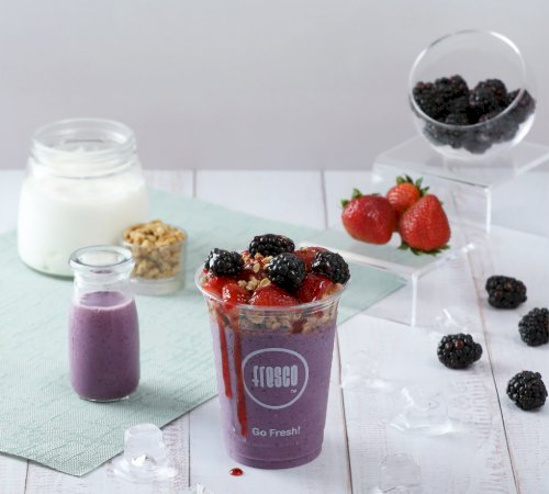 Fresh Blackberry Yougo Smoothie